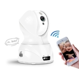 Kabellose Security Kamera 720P HD von EC Technology Baby Monitor IP Kamera Home Security Überwachung mit Bewegungserkennung, Stereo 2 Wege Audio zum Gegensprechen, PIR Nachtsichtmodus, Alarm Informationen - in weiß -