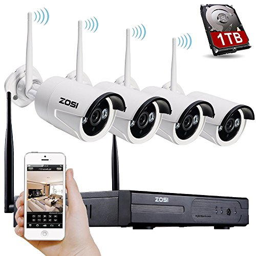zosi cctv 4 kanal 960p wireless system funk. Black Bedroom Furniture Sets. Home Design Ideas